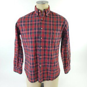 Sir Pendleton Button Up Plaid Outdoors Wool Red XL